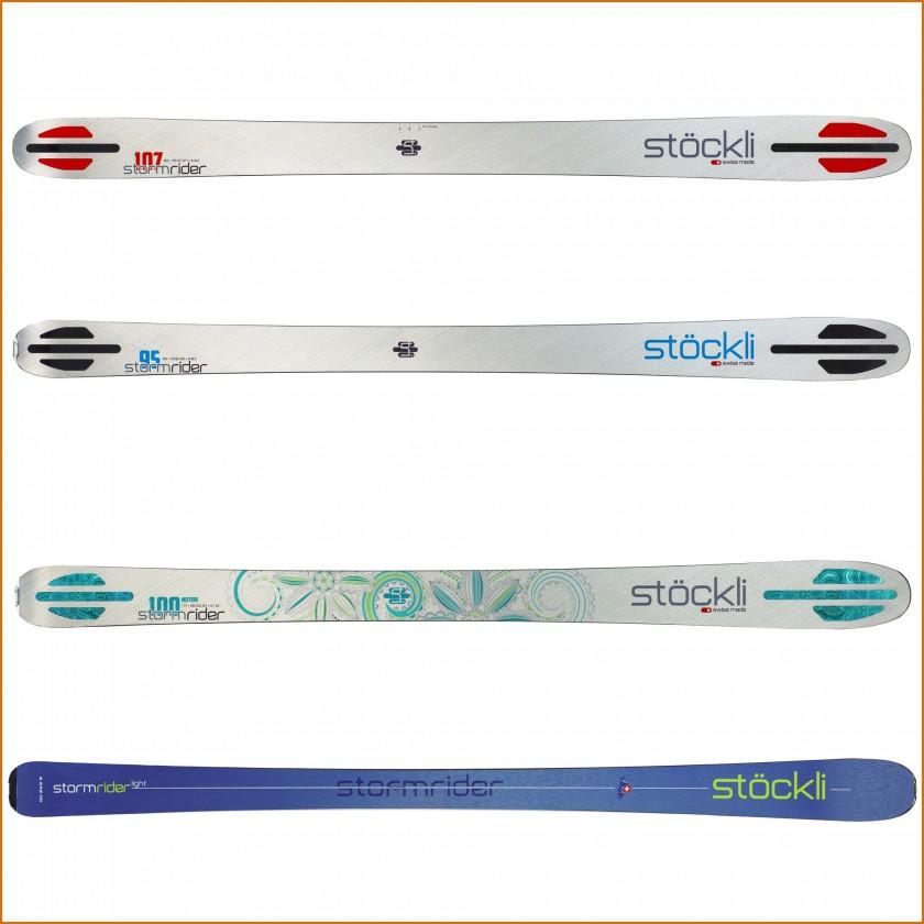 STORMRIDER: 107, 95, 100 Motion, Light Freeride-Ski ohne u. mit Bindung 2015/16 von Stöckli