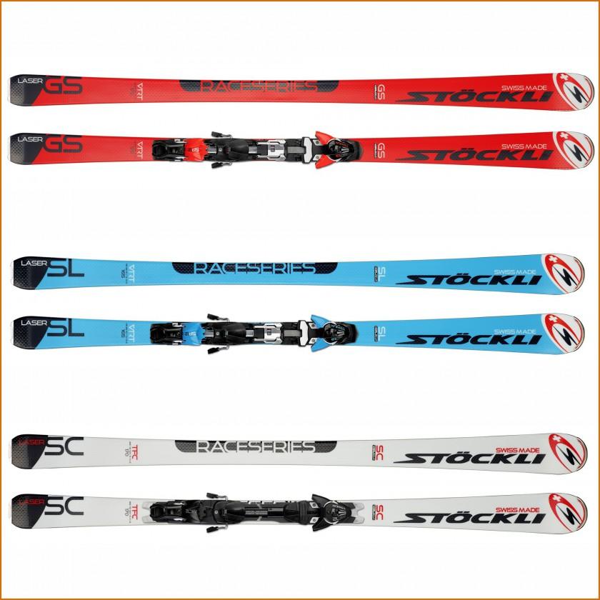 LASER GS, SL, SC Alpin-Ski ohne u. mit Bindung 2015/16 von Stckli