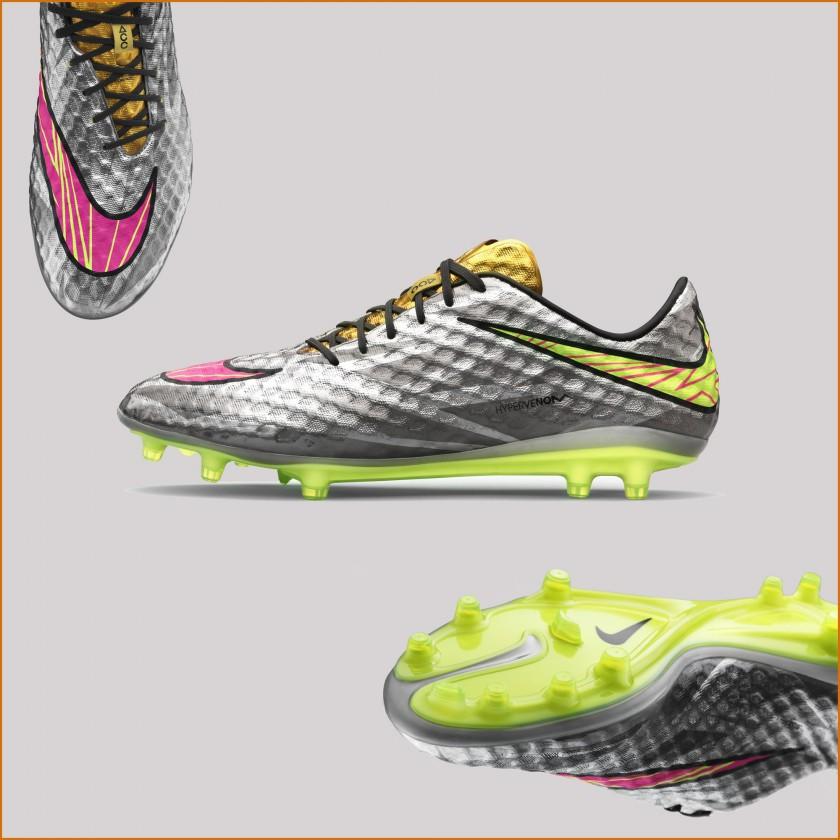 Hypervenom Liquid Diamond Fußballschuh oben, seite, sohle 2015 von Nike