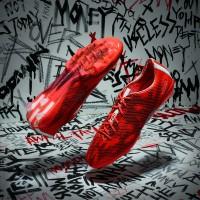 adizero f50 Fuballschuh seite, sohle rot Version 2015 von adidas