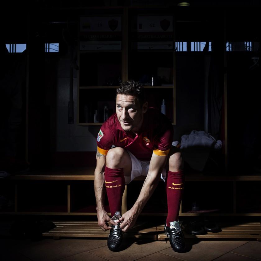Francesco Totti in seinem neuen Nike Tiempo Legend V Premium Fuballschuh 2015