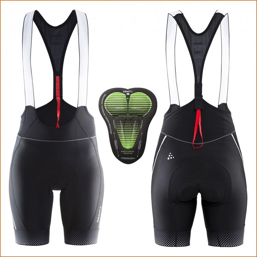Glow Bib Shorts W schwarz Damen u. Infinite Comfort Pad 2015 von Craft