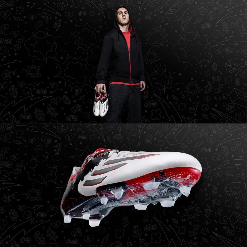 Lionel Messi mit seinem adizero f50 Pibe de Barr10 Fußballschuh 2015 von adidas