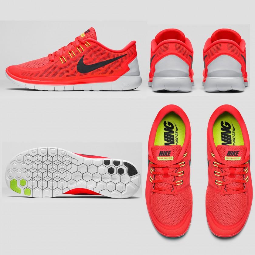 Nike Free 5.0 Laufschuh Herren seite, sohle, hinten, oben 2015