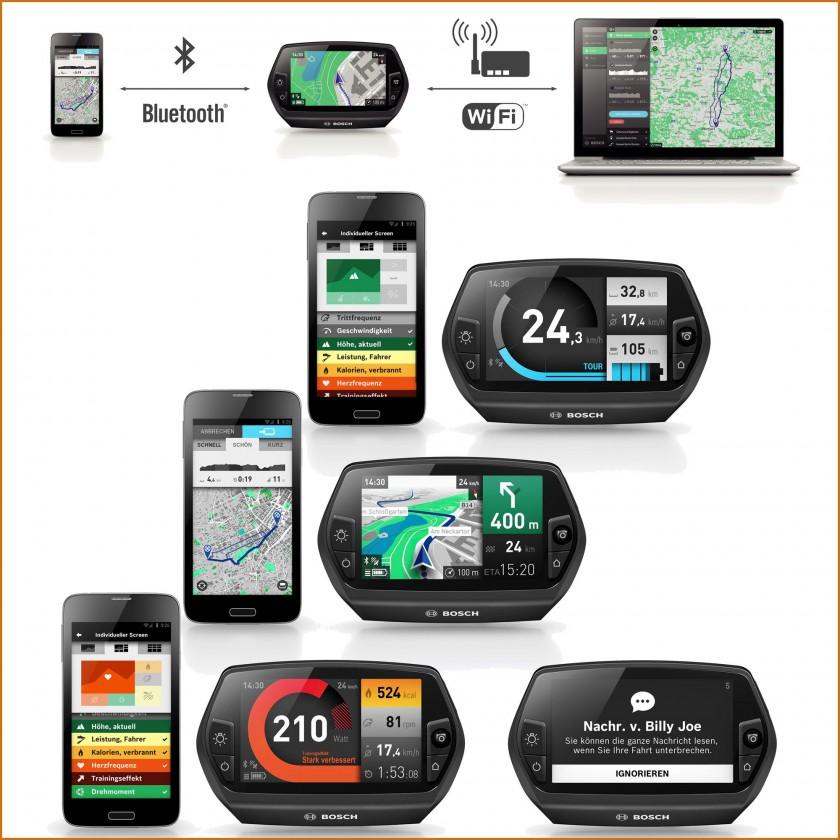 Nyon all-in-one-Bordcomputer fr E-Bikes Speed, Karte, Leistung 2015 von Bosch eBike Systems