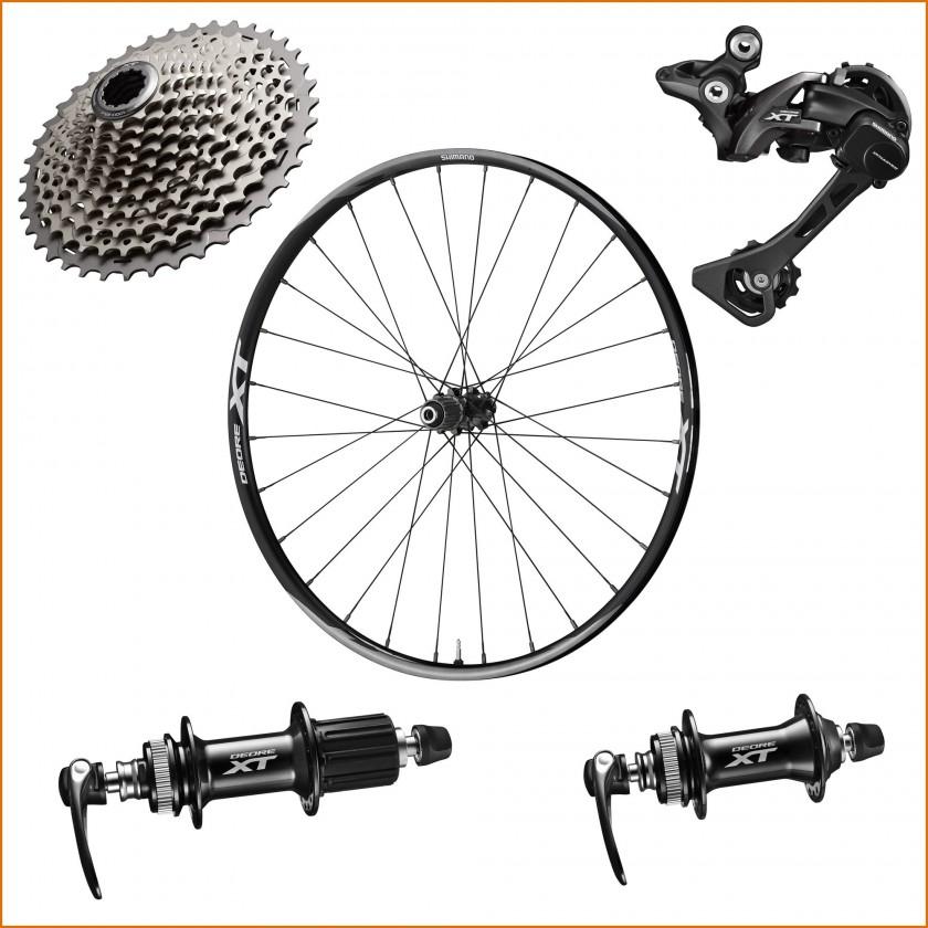 DEORE XT M8000 Kassette, Schaltwerk, Laufrad und Naben 2015 von Shimano