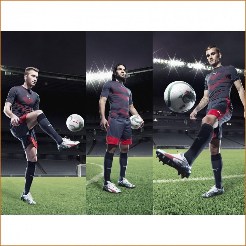 Marco Reus, Radamel Falcao u. Antoine Griezmann im evoSPEED 1.3 Graphic Fuballschuh 2015 von PUMA
