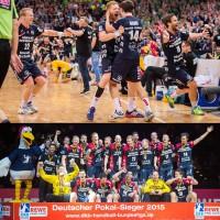 DHB Pokalsieger 2015 SG Flensburg-Handewitt gewann in neuen ERIMA-Trikots fr die Saison 2015/16 das Halbfinale in Hamburg