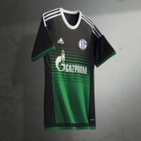 FC Schalke 04: Ausweich-Trikot schwarz/grn Fuball-Bundesliga-Saison 2015/16 von adidas