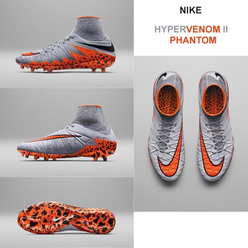 outlet store b91ec 1603f Bild Hypervenom 2 Phantom Fußballschuhe aussen, innen, sohle, oben 2015  von Nike