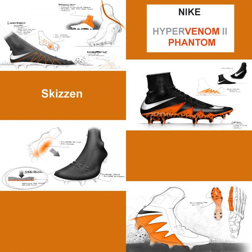 Hypervenom 2 Phantom Fußballschuh: Skizzen 2015 von Nike