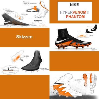 Hypervenom 2 Phantom Fuballschuh: Skizzen 2015 von Nike