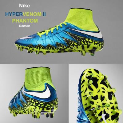 Hypervenom 2 Phantom Fuballschuh Damen seite, hinten, sohle 2015 von Nike