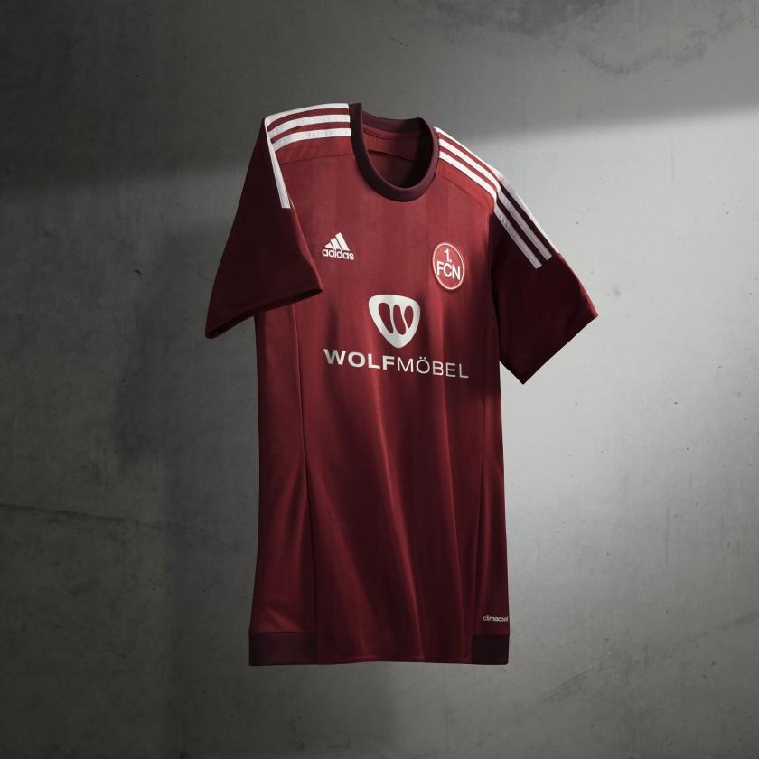 1. FC Nrnberg Heim-Trikot der Saison 2015/16 von adidas - vorne