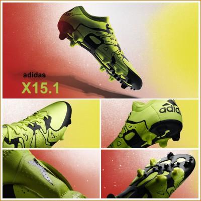 X15.1 Fuballschuh - Chaos - seite, vorne, hinten, X, sohle 2015 von adidas