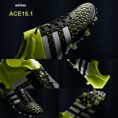 ACE15.1 Fuballschuh - Kontrolle - seite, oben, innen, vorne, sohle 2015 von adidas