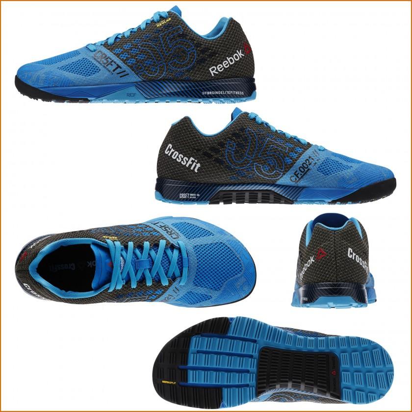 Bild: CrossFit Nano 5.0 Fitnessschuh Herren blau/schwarz außen, innen,  oben, hinten, sohle 2015 von Reebok