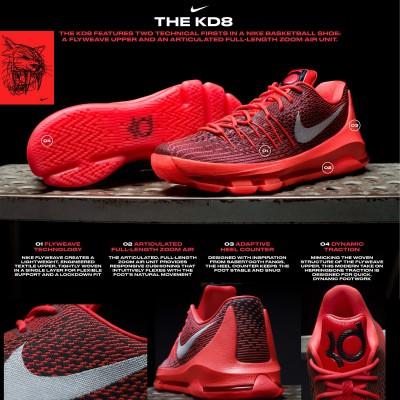 KD8 Basketballschuh mit Flyweave Technologie 2015 von Nike