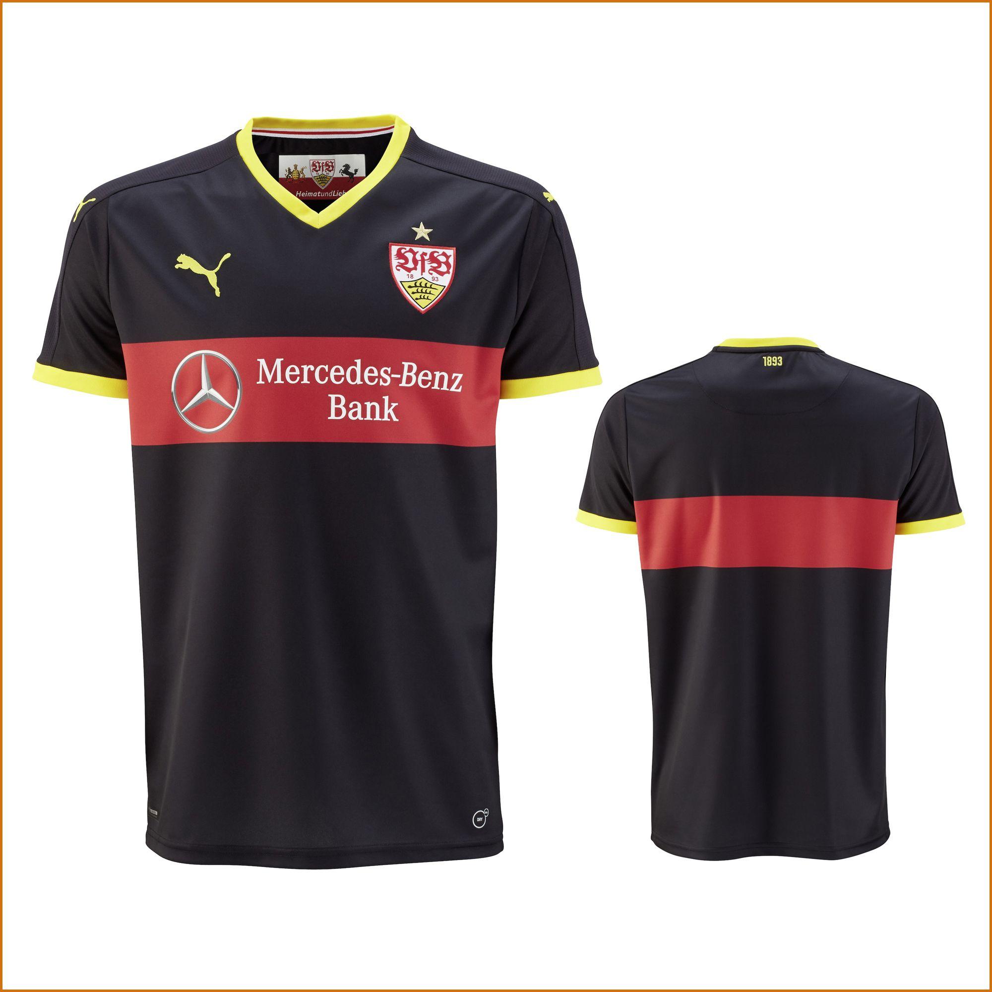 Vfb stuttgart ausweich trikot schwarz rot bundesliga for Bundesliga trikots