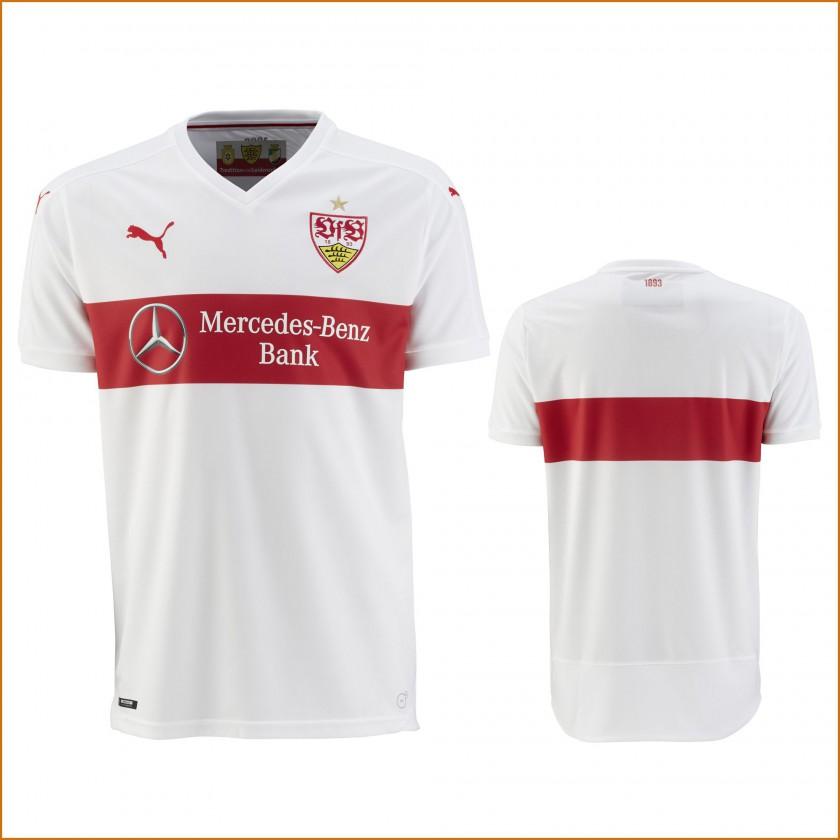 VfB Stuttgart Heim-Trikot weiß, rot Bundesliga-Saison 2015/16 von PUMA vorne, hinten
