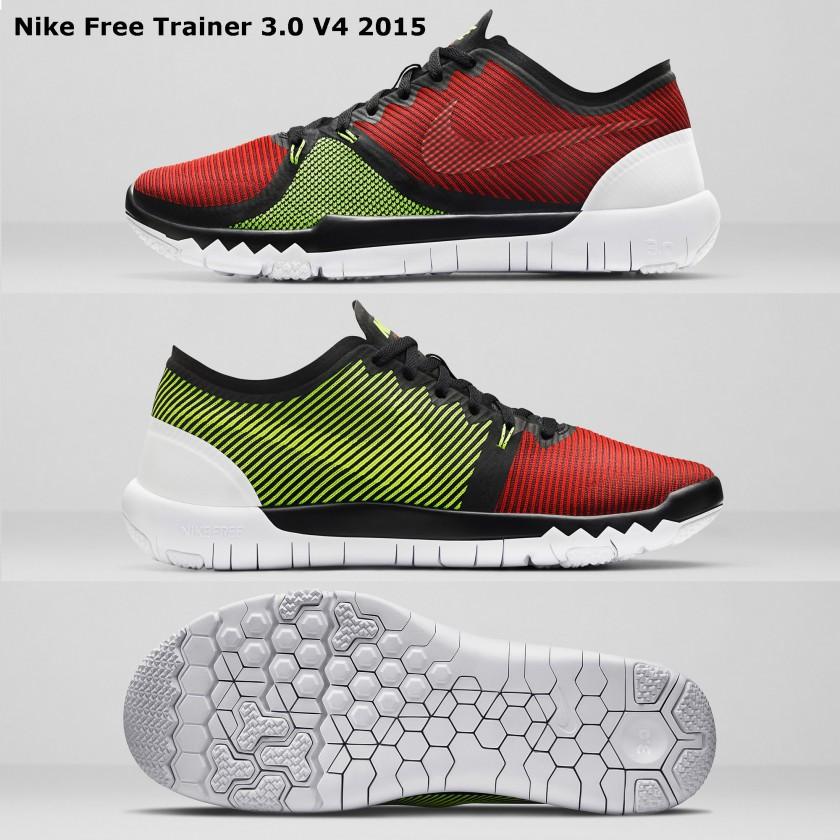Nike FREE TRAINER 3.0 V4 Schwarz Rot Schuhe Fitnessschuhe