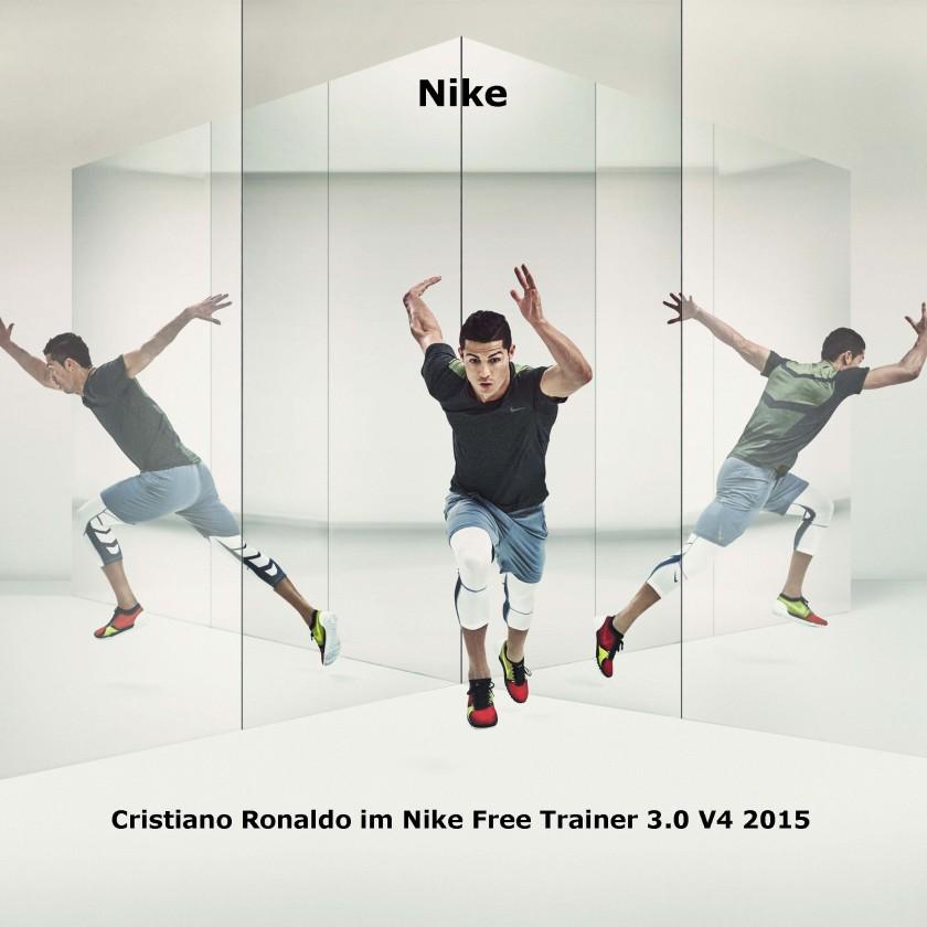 Cristiano Ronaldo im Nike Free Trainer 3.0 V4 Fitnessschuh 2015