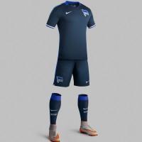 Hertha BSC Auswrts-Trikot, Shorts u. Socken Bundesliga-Saison 2015/16 von Nike