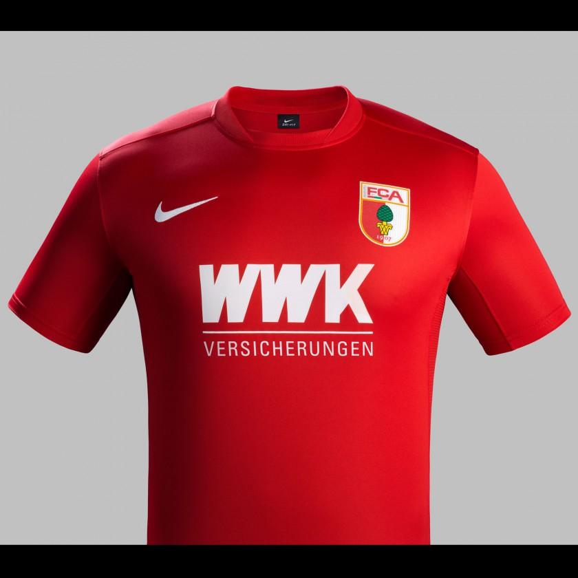Bild Fc Augsburg Auswärts Trikot Bundesliga Saison 201516 Von Nike