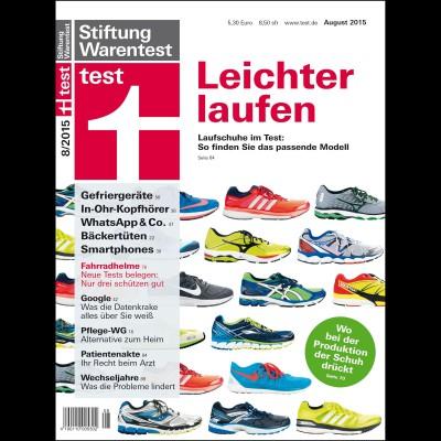 Stiftung Warentest - Cover Ausgabe August 2015: Welche Laufschuhe fr welchen Typ geeignet sind