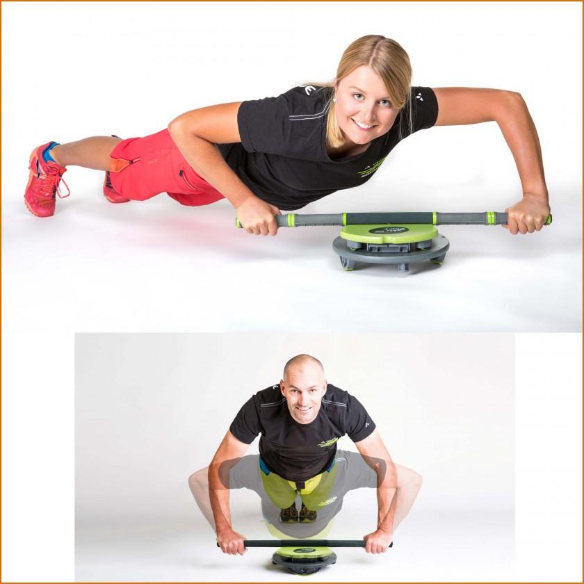 Training mit dem multifunktionalen Sport- und Fitnessgert MFT Core Disc 2015