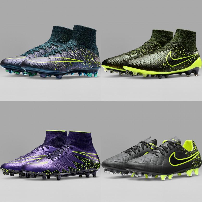 Nike Electro Flare Pack 2015: Mercurial Superfly IV, Magista Obra, Hypervenom II Phantom und Tiempo V