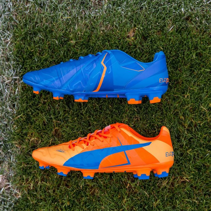 evoPOWER 1.2 Fußballschuh orange/blau 2015 von Puma