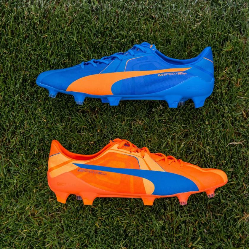 evoSPEED SL Fußballschuh orange/blau 2015 von Puma
