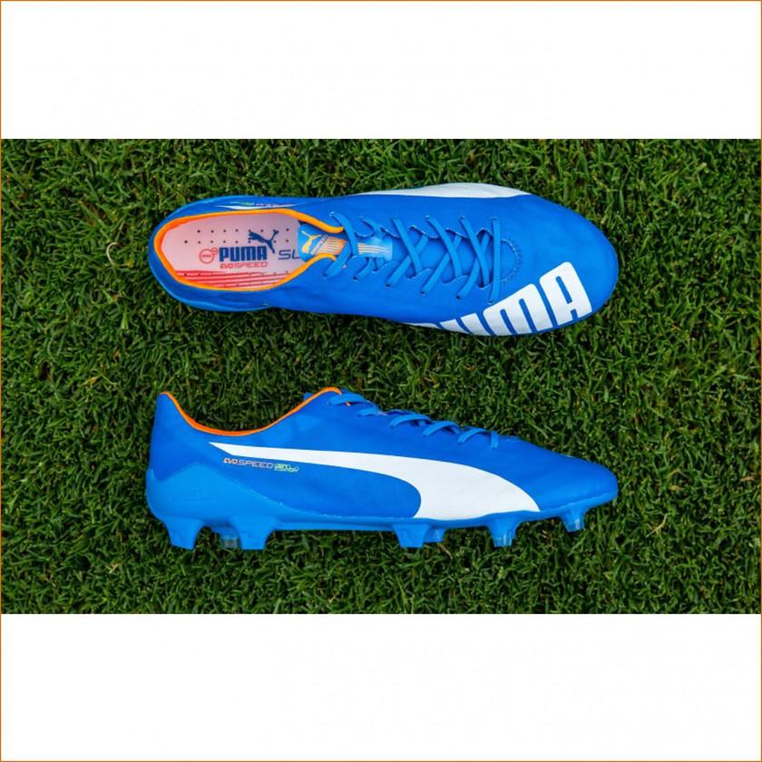 evoSPEED SL Fußballschuh blau oben, seite 2015 von Puma