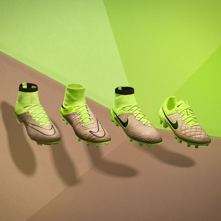 Nike Tech Craft Boots 2015: Hybrid-Leder-Fußballschuhe volt/canvas