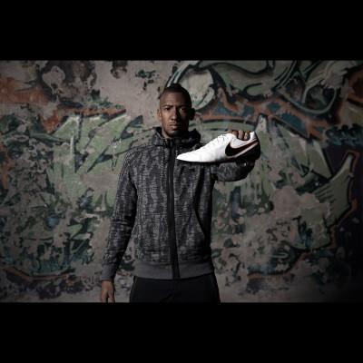 Jerome Boateng mit seinem Tiempo Legend 6 Fuballschuh 2015 von Nike