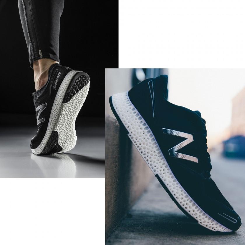 High-Performance-Laufschuh mit einer komplett 3D-gedruckten Zwischensohle sohle, seite 2015 von New Balance