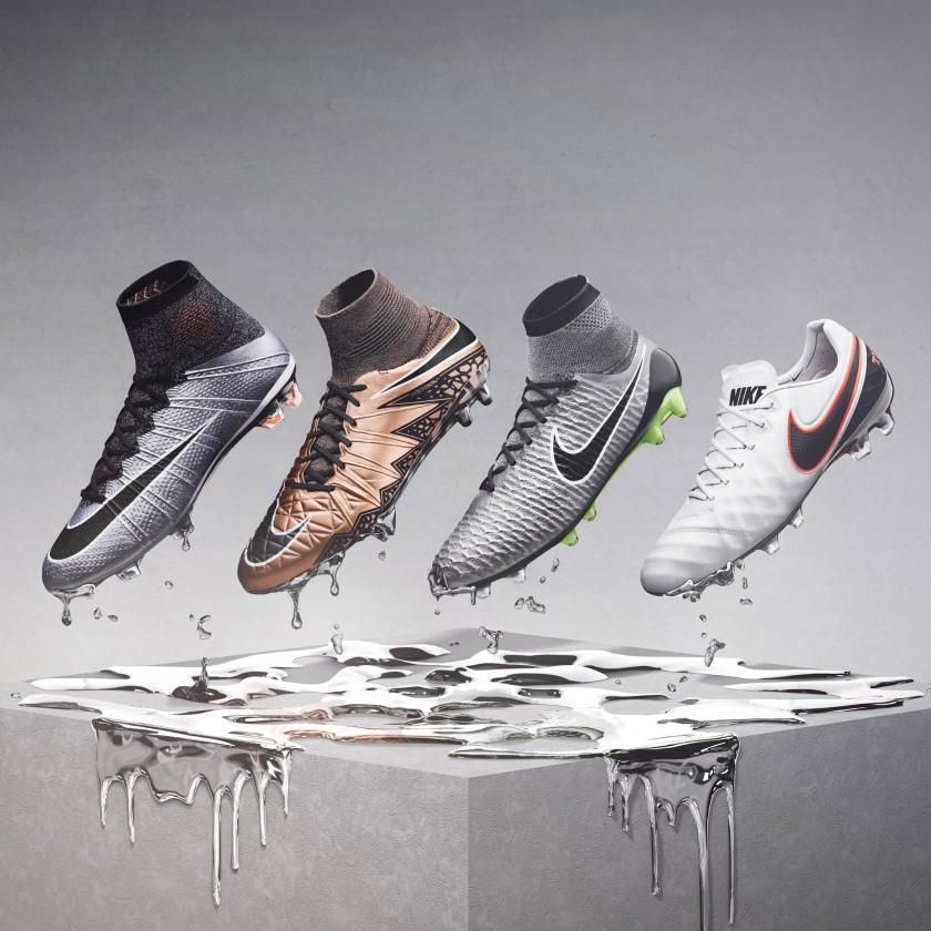 Nike Liquid Chrome Fuballschuhe-Pack 2015: Mercurial Superfly IV, Hypervenom II Phantom, Magista Obra u. Tiempo Legend 6