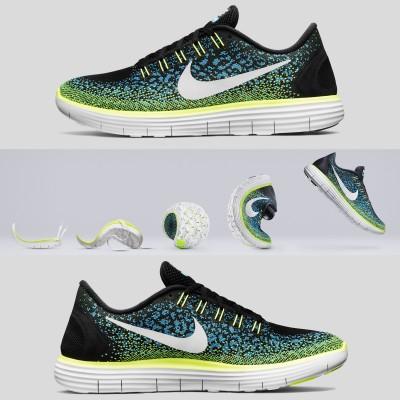 Nike Free RN Distance Laufschuh Herren auen, innen 2015