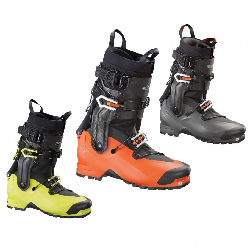 Procline Carbon Lite orange, Procline Lite gelb u. Procline Lite Women schwarz Skischuhe 2016 von Arcteryx
