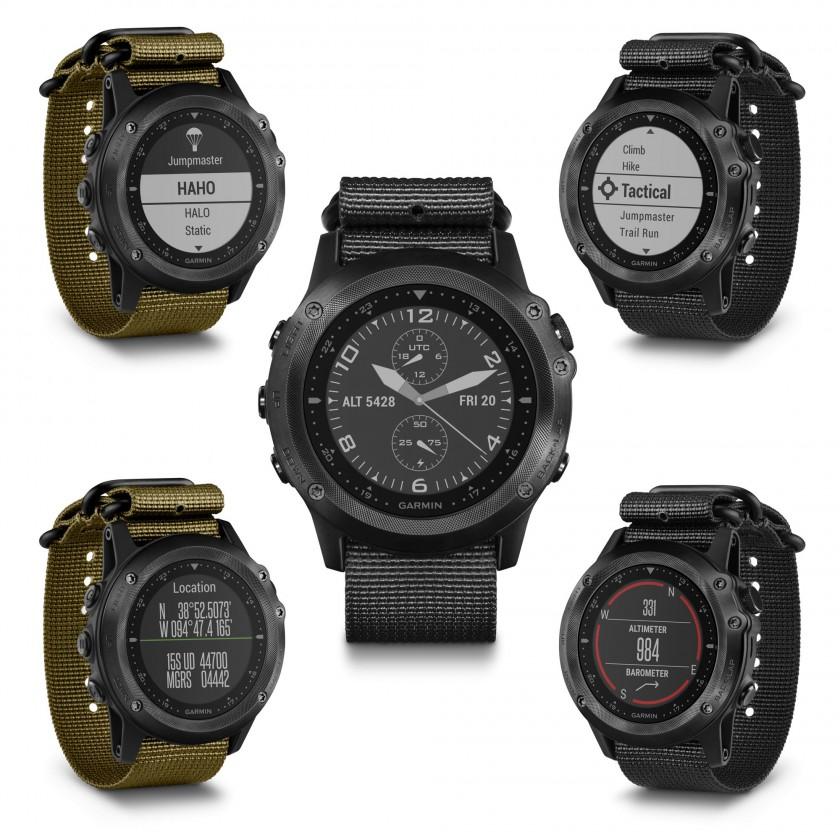 tactix Bravo GPS-Multisportuhr vorne, Jumpmaster, Tactical, Location, Altimeter 2016 von Garmin