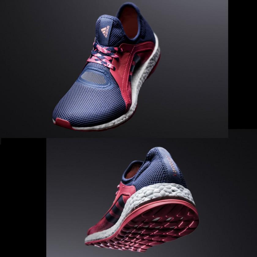 PureBOOST X Laufschuh Damen vorne, hinten 2016 von adidas