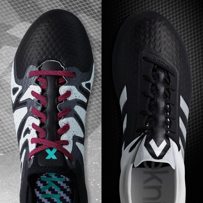 X u. ACE 15.1 Primeknit Fußballschuhe Black and White Pack 2015 von adidas