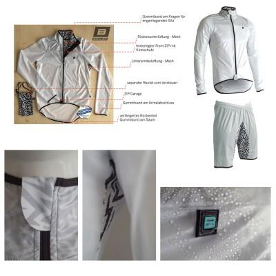 Platzregen Waterproof Jacke und Shorts Herren im flashy Design 2016 von Biehler Sportswear