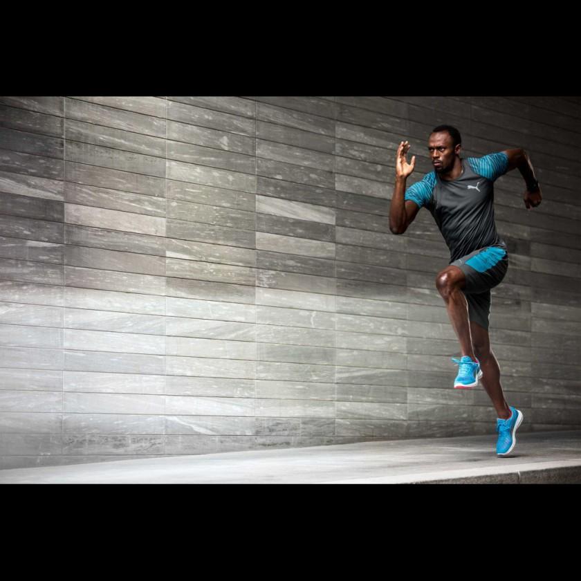 Usain Bolt trainiert im IGNITE Ultimate Laufschuh von Puma für die Olympischen Spiele 2016 in Rio