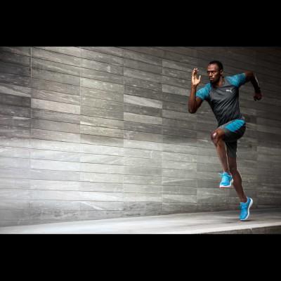 Usain Bolt trainiert im IGNITE Ultimate Laufschuh von Puma fr die Olympischen Spiele 2016 in Rio