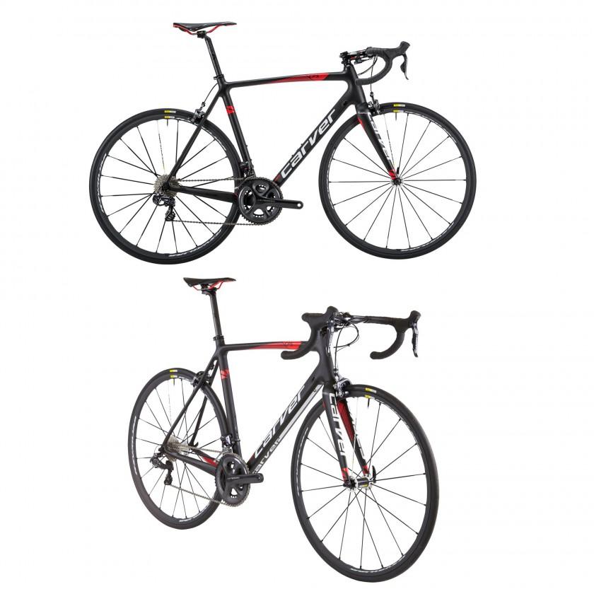 Evolution Carbon CPS Rennrad schwarz-weiß-rot 2016 von CARVER