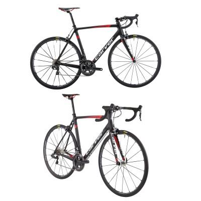Evolution Carbon CPS Rennrad schwarz-wei-rot 2016 von CARVER