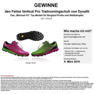 Gewinnspiel: Gewinne den Feline Vertical Pro Trailrunningschuh von Dynafit