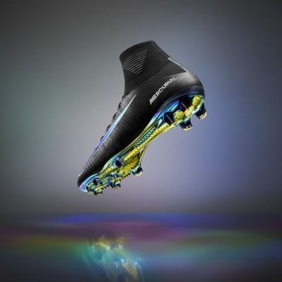 Mercurial Superfly V Fuballschuh schwarz seitlich 2016 von Nike
